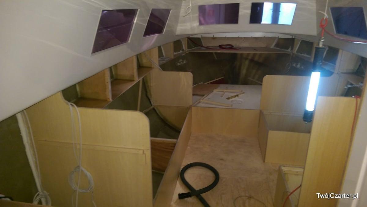 Budowa wnętrza jachtu Shasa I